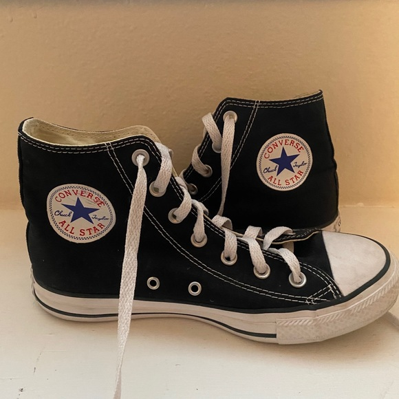 Converse Shoes | Black High Top Size